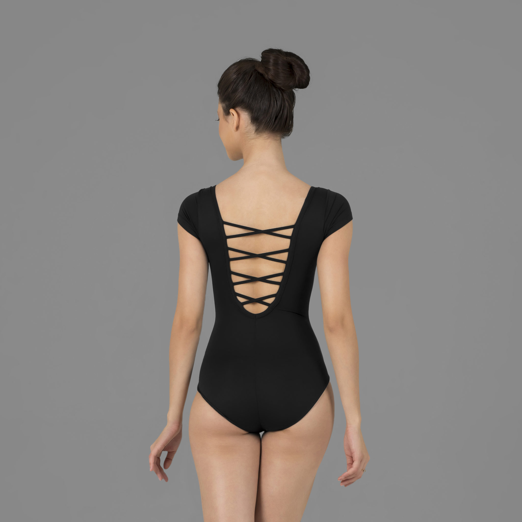 9acebc681d Collant Amni Meia Manga Tiras Em X Nas Costas 525 - Evidence Ballet ...