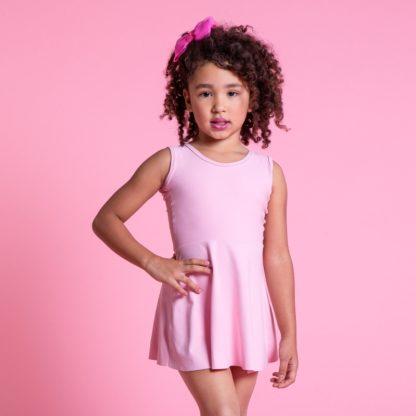 Vestido infantil de alcinha em Amni tecido - 1170